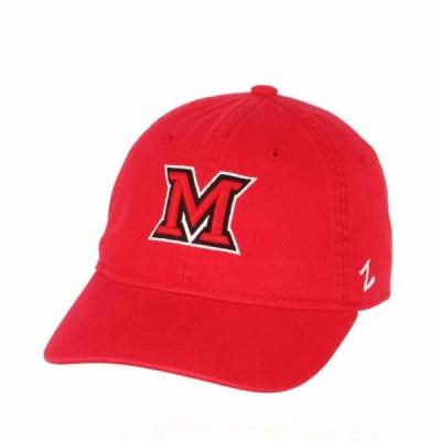 ユニセックス スポーツリーグ アメリカ大学スポーツ Adult NCAA All-American Relaxed Adjustable Hat (Miami Redhawks - Red) 帽子