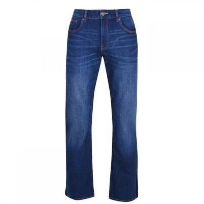 リークーパー Lee Cooper メンズ ジーンズ・デニム ブーツカット ボトムス・パンツ Bootcut Jeans Dark Indigo