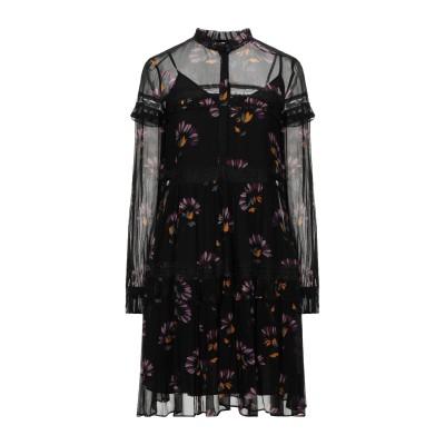 ツインセット シモーナ バルビエリ TWINSET ミニワンピース&ドレス ブラック 40 ポリエステル 100% ミニワンピース&ドレス