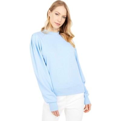 マイケルスターズ Michael Stars レディース スウェット・トレーナー トップス Kehlani Puff Sleeve Sweatshirt in Hermosa French Terry Sky