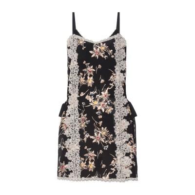 ANNA SUI ミニワンピース&ドレス ブラック 12 シルク 100% ミニワンピース&ドレス
