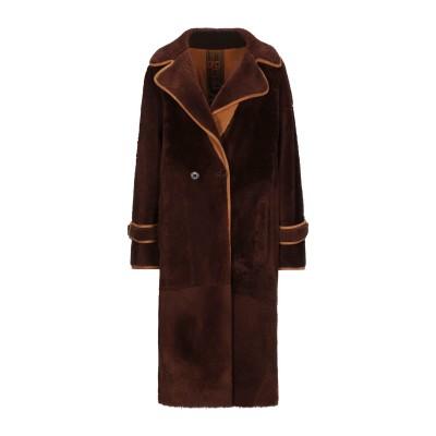 ジェントリーポルトフィーノ GENTRYPORTOFINO コート ダークブラウン 38 羊革(ラムスキン) コート