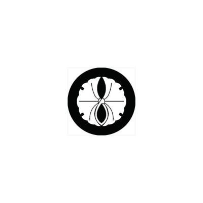 家紋シール 抱き銀杏紋 直径10cm 丸型 白紋 2枚セット KS10M-2863W