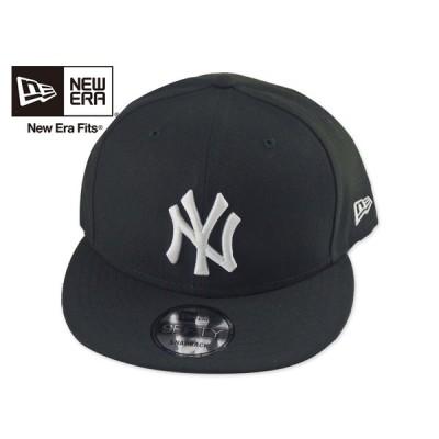 ☆NEWERA【ニューエラ】9FIFTY BASIC NEWYORK YANKEES BLACK/WHITE ニューヨーク ヤンキース キャップ ブラック/ホワイト