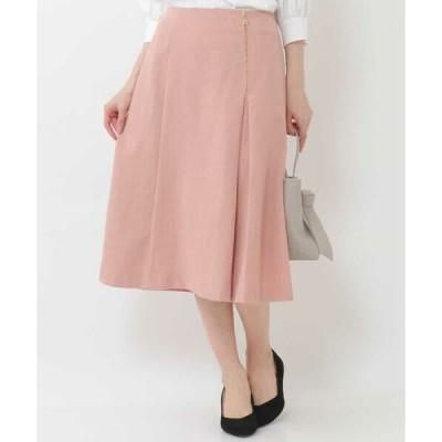 OFUON / オフオン 【洗濯機で洗える】サイドプリーツスカート