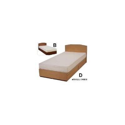 パネル型 引き出し付きベッド既製品 シングル レギュラーマットレス付き ベット