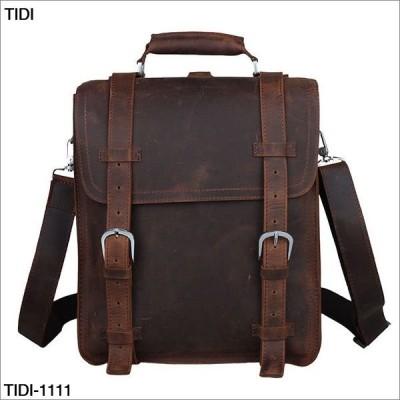 TIDI 高級本革ショルダーバック 手提げバッグ 鞄 tidi-1111 ipad収納 軽量 ボディバッグ メンズバッグ 斜め掛けバッグ カバン