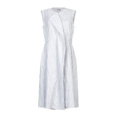 アールト AALTO 7分丈ワンピース・ドレス ホワイト 36 コットン 67% / ポリエステル 32% / ポリウレタン 1% 7分丈ワンピース