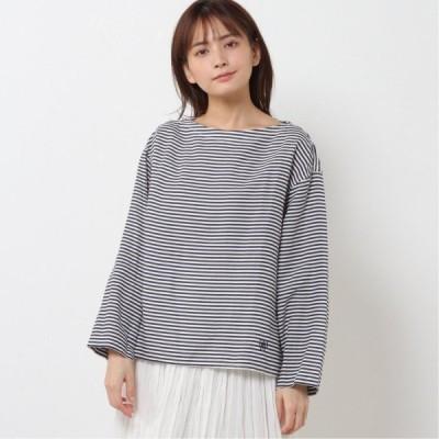 長袖プルオーバー ホワイト/ネイビー 1