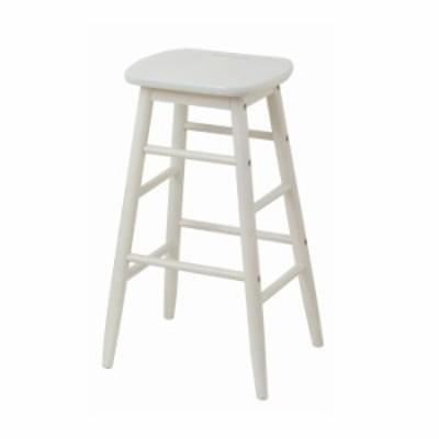ハイスツール スツール 木製 北欧 白 椅子 おしゃれ