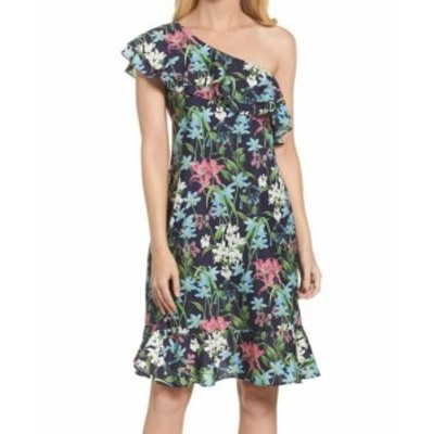 Chelsea28 チェルシートウェンティエイト ファッション ドレス Chelsea28 NEW Blue Womens Size 2 Floral-Print Ruffle Sheath Dress