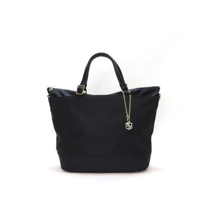 BASE / A4対応 軽量 ナイロン ロゴチャーム付きトートバッグ WOMEN バッグ > トートバッグ