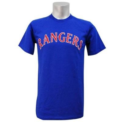 リニューアル記念メガセール MLB レンジャーズ Tシャツ Blue Rangers マジェスティック Wordmark Tシャツs
