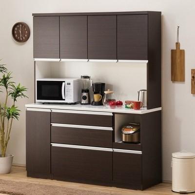 食器棚(レジューム 150TF-H DBR/150SL-R DBR) ニトリ 『配送員設置』 『5年保証』