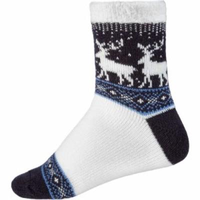ノースイースト Northeast Outfitters レディース ソックス インナー・下着 Fairisle Deer Cozy Cabin Crew Socks Blue