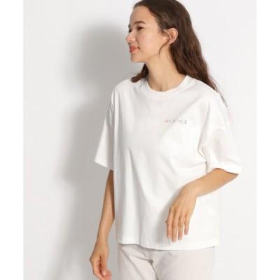 tシャツ Tシャツ スポーツロゴ刺繍Tシャツ
