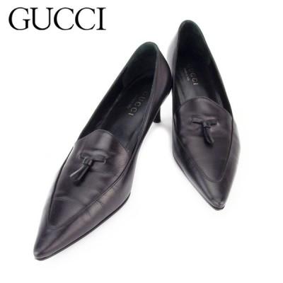 くらしの応援クーポン対象 グッチ パンプス シューズ 靴 レディース ♯37ハーフC ポインテッドトゥ GUCCI 中古 ブランド