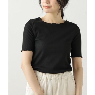(framesRayCassin/フレームスレイカズン)メローフライスTシャツ/レディース 黒