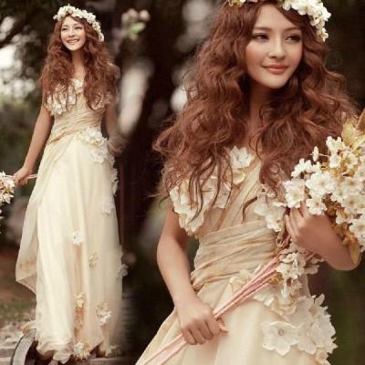 ウェディングドレス ロングドレス 二次会 Aライン  二次会 パーティードレス 花嫁ドレス イブニングドレス 大きいサイズ 結婚式