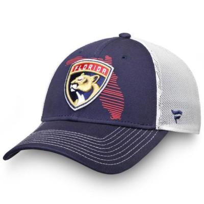 ユニセックス スポーツリーグ ホッケー Florida Panthers Fanatics Branded State Speed Stretch Fit Hat - Navy/White 帽子