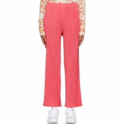 プリスカヴェラ PRISCAVera レディース ボトムス・パンツ Pink Seamless Pleated Lounge Pants Guava