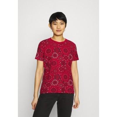 デジグアル レディース Tシャツ トップス LYON - Print T-shirt - red red