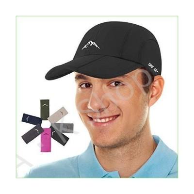 Sport Cap Summer Quick Drying Sun Hat UV Protection Outdoor Cap for Men, Women Black--並行輸入品--