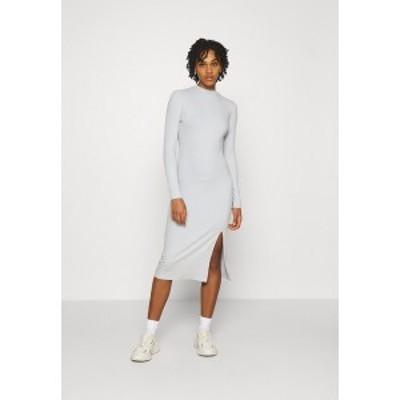 ヌー イン レディース ワンピース トップス HIGH NECK MIDI DRESS - Shift dress - light grey light grey