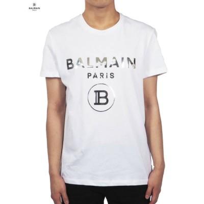 Balmain Homme バルマン オム BALMAIN STAMP SILVER MILLER / バルマン スタンプ シルバー ミラー Tシャツ (ホワイト) 正規取扱店