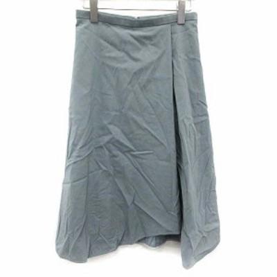 【中古】デミルクス ビームス Demi-Luxe BEAMS 19SS スカート フレア ロング 38 青 ブルー /KH レディース