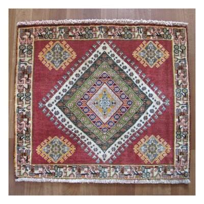 カシュガイ絨毯 座布団サイズ 62×70cm(ZP-1329)
