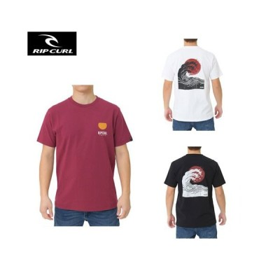 リップカール RIPCURL メンズ Tシャツ S01-203 サーフブランド 半袖 綿 TEE 白 黒 S M L ロゴ プリント