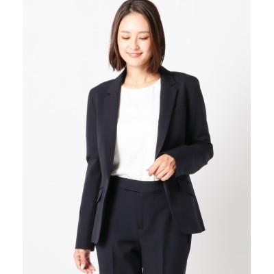 【ミューズ リファインド クローズ】 ウォッシャブルエアレットテーラードジャケット レディース ネイビー S MEW'S REFINED CLOTHES