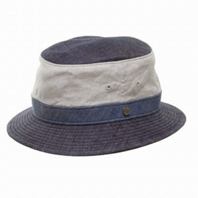 帽子 ハット メンズ アウトドア レジェ― ダックス 春夏 麻生地 2トーンカラー デニム調 ネイビー