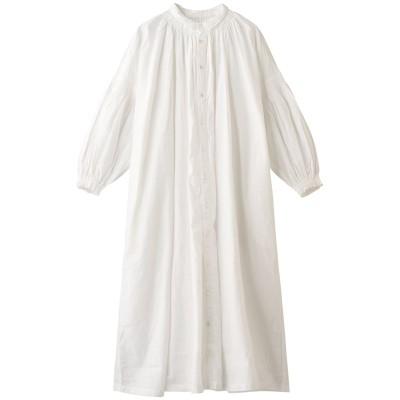 nest Robe ネストローブ リサイクルリネンコットンスモックシャツドレス レディース オフホワイト F