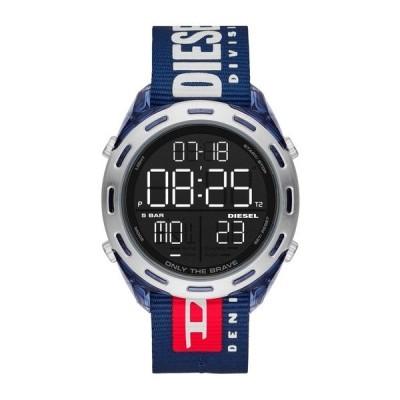 DIESEL ディーゼル CRUSHER COLLECTION ネイビーブルー ナイロン  DZ1915 デジタル メンズ 腕時計 dz1915∵