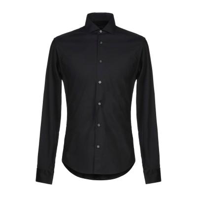 ZZEGNA シャツ ブラック S コットン 100% シャツ