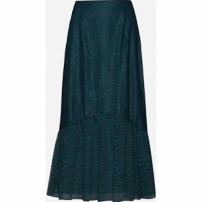 ホイッスルズ WHISTLES レディース ひざ丈スカート スカート Ellis animal-print lace midi skirt Dark Green