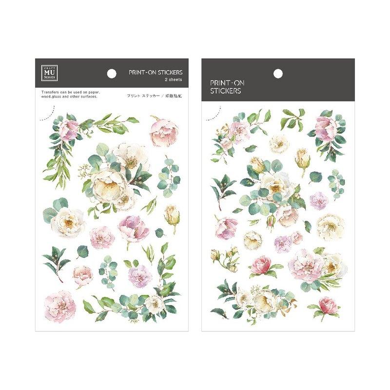 【Print-On Stickers】 花草系列93.春花漫漫 手帳好朋友 DIY