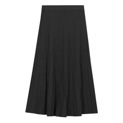 スカート プリーツニットスカート