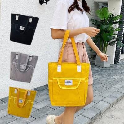 キャンバスバッグ 2way トートバッグ ショルダーバッグ シンプル レディース 軽量 大容量 バッグ 女性 鞄 小さめ a4 ファスナー ポケット キャン