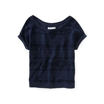 Aeropostale Womens Southwest Dolman Knit Sweater, Blue, X-Large並行輸入品 送料無料