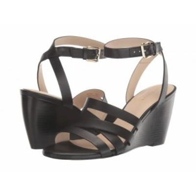 Cole Haan コールハーン レディース 女性用 シューズ 靴 ヒール Marietta Wedge Sandal 80mm Black Leather【送料無料】