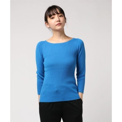 ニット washable boatneck knit tops