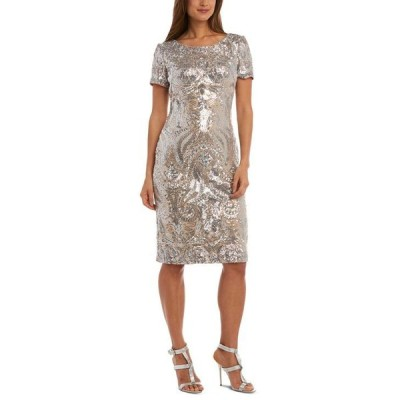 アールアンドエムリチャーズ レディース ワンピース トップス Petite Sequin V-Back Dress