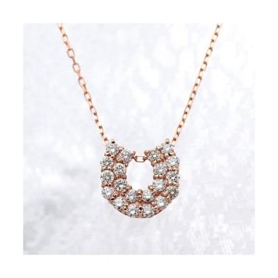 ダイヤモンド ネックレス K18ピンクゴールド 0.50ct