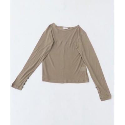 HER CLOSET / 【CLEIO】袖口ボタンシアーTシャツ WOMEN トップス > Tシャツ/カットソー