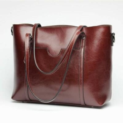 バッグ ハンドバッグ レディース New Women's Ladies Handbag Real Leather Shoulder Bag Work Satchel Tote L40