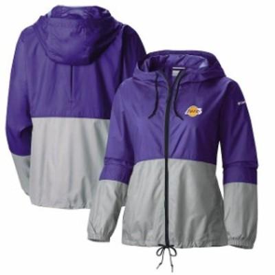 Columbia コロンビア スポーツ用品  Columbia Los Angeles Lakers Womens Purple Flash Forward Windbreaker Full-Zip Jacket