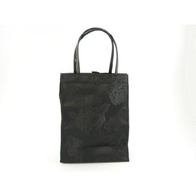 ローズエレガンスgy-2200-bk軽くて繊細なバラ織り手さげハンドバッグ